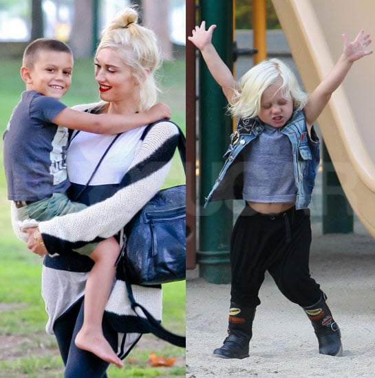 Gwen Stefani With Kingston and Zuma at the Park in LA