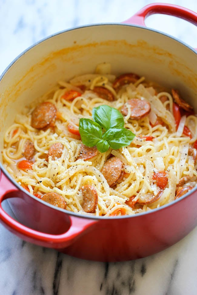 One-Pot Pasta With Andouille Sausage