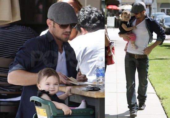 Pictures of Cam Gigandet With Daughter Everleigh and Girlfriend Dominique