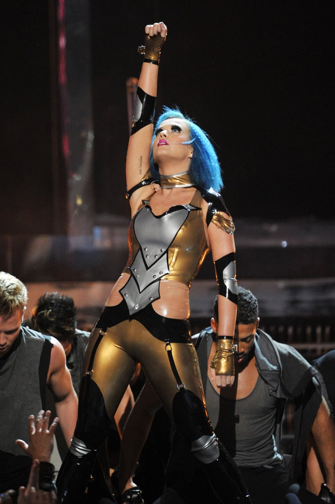 Katy Perry performed at the Grammys.