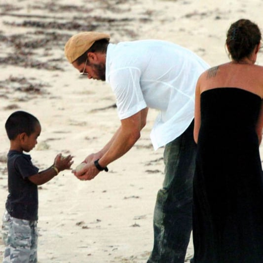Brad Pitt and Angelina Jolie First Couple Pictures in Africa