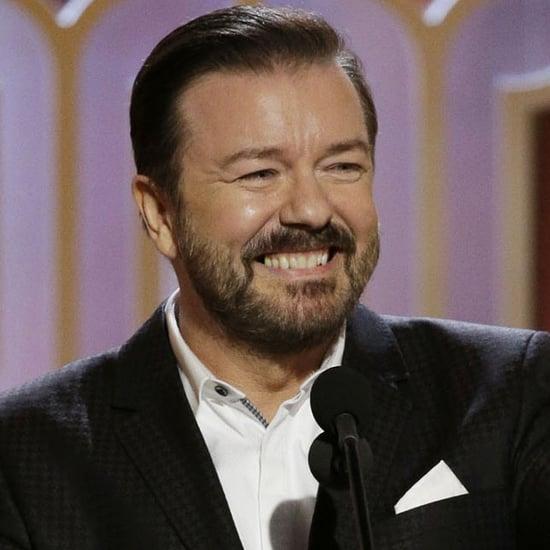 Ricky Gervais' Golden Globes Jokes 2016