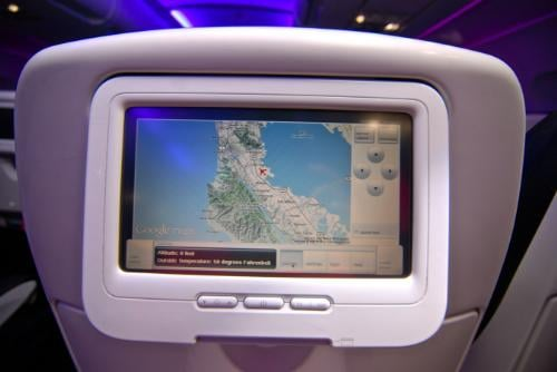 New Virgin America Red In-Flight System