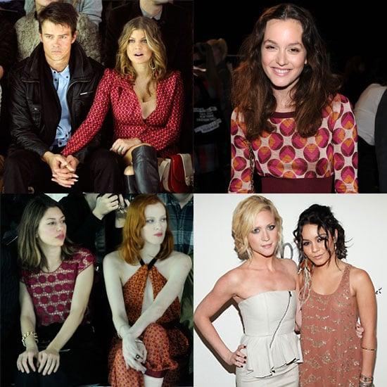 Celebrity Pictures From New York Fashion Week Fall 2011 Vanessa Hudgens, Christina Hendricks, Fergie, Josh Duhamel, Sofia Coppol