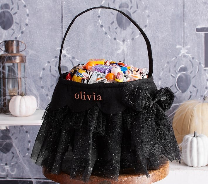 Black Tulle Bucket