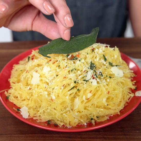 How to Microwave Spaghetti Squash