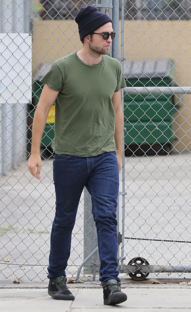 Robert Pattinson dropped by a studio on Wednesday.