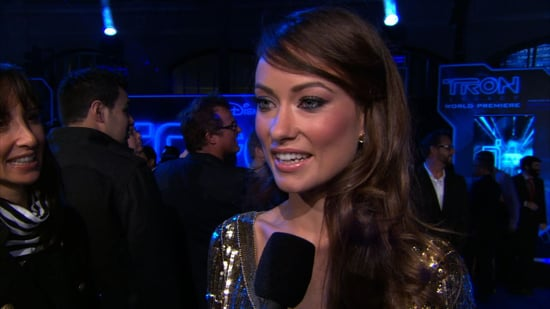 Video of Olivia Wilde and Jeff Bridges at the Tron: Legacy Premiere in LA.