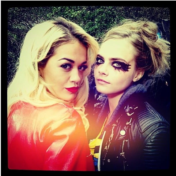 Rita Ora watched her best friend, Cara Delevingne, walk the runway during the Chanel Couture show in Paris. Source: Instagram user ritaora