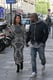 Kim Kardashian and Kanye West shared a look of love while wandering the streets of Paris, where they are reportedly getting married.