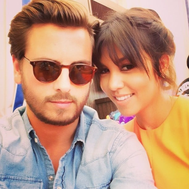 Kourtney Kardashian and Scott Disick snapped a sweet photo while hanging out in Vegas. Source: Instagram user kourtneykardash