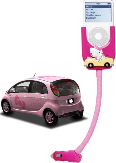 Hello Kitty iPod Car Charger & FM Transmitter