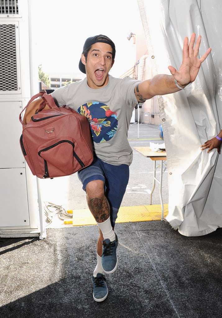 Tyler Posey got silly backstage at the Teen Choice Awards on Saturday. The Teen Wolf star had a sweet reunion with Jennifer Lopez when he hosted the show alongside Sarah Hyland on Sunday.