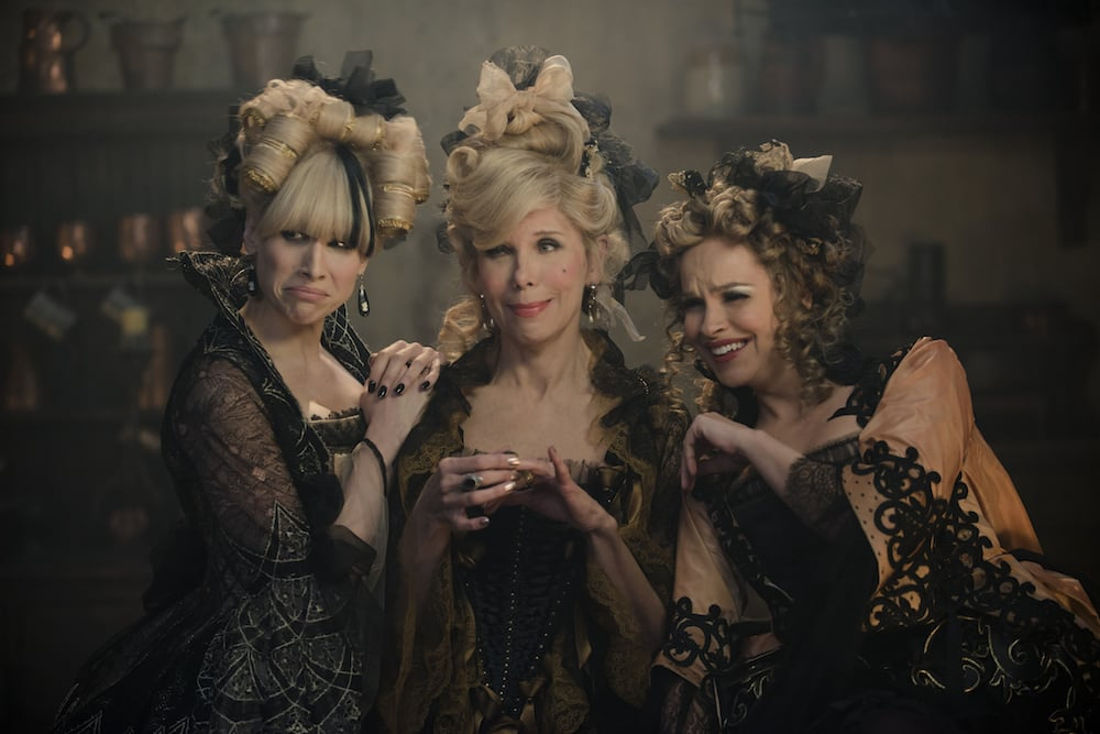 Lucy Punch as Lucinda, Christine Baranski as Cinderella's Stepmother, and Tammy Blanchard as Florinda.