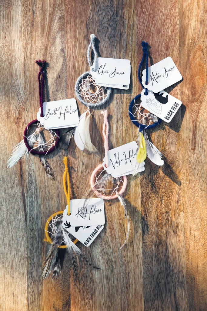 Mini dream-catcher escort cards