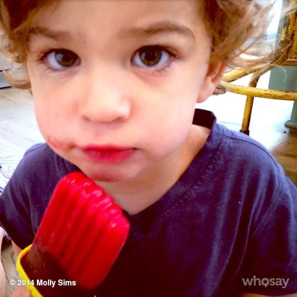 Brooks Stuber took his homemade popsicle very seriously! Source: Instagram user mollybsims