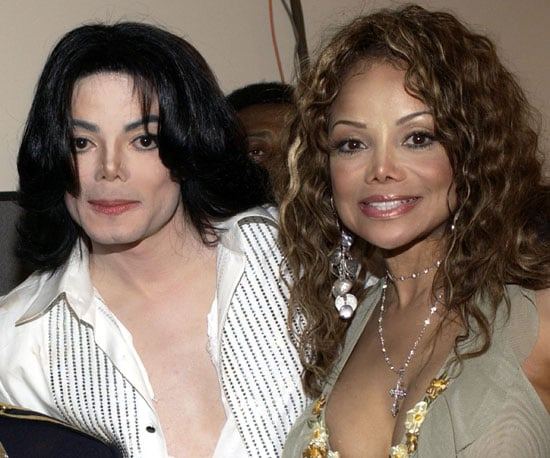 Michael and LaToya Jackson posed together at the 2003 BET Awards in LA.