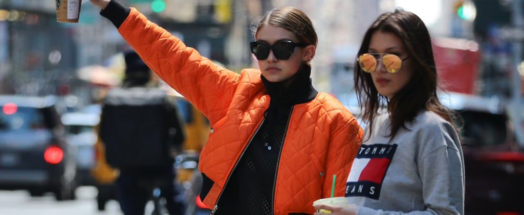 These Snaps of Gigi and Bella Hadid Hailing a Cab Will Go Down in Fashion History