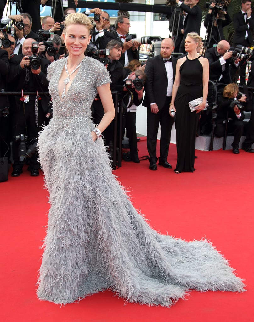 Naomi Watts made us swoon when she attended 2015's La Tete Haute premiere in a feathered Elie Saab creation.