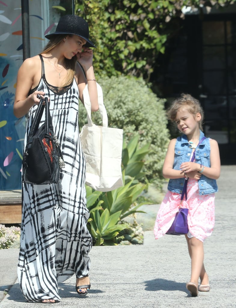 Jessica Alba and Honor Warren went to a hair salon together.