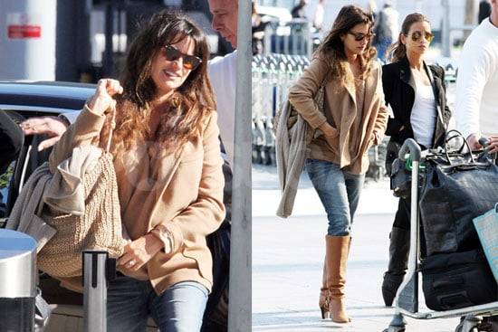 Pictures of Pregnant Penelope Cruz at Heathrow With Sister Monica