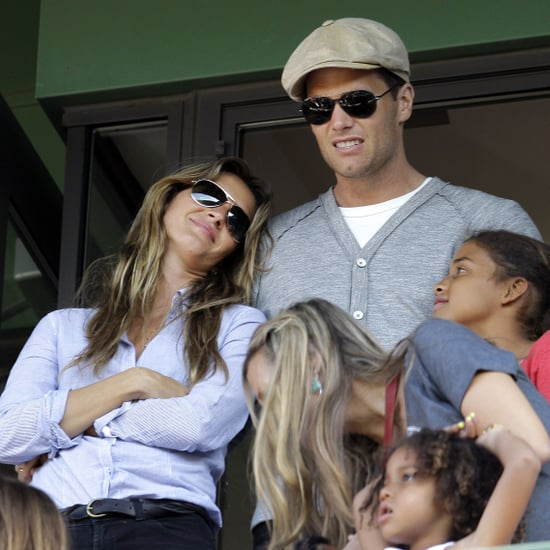 Tom Brady and Gisele Bundchen Pictures at Fenway Park