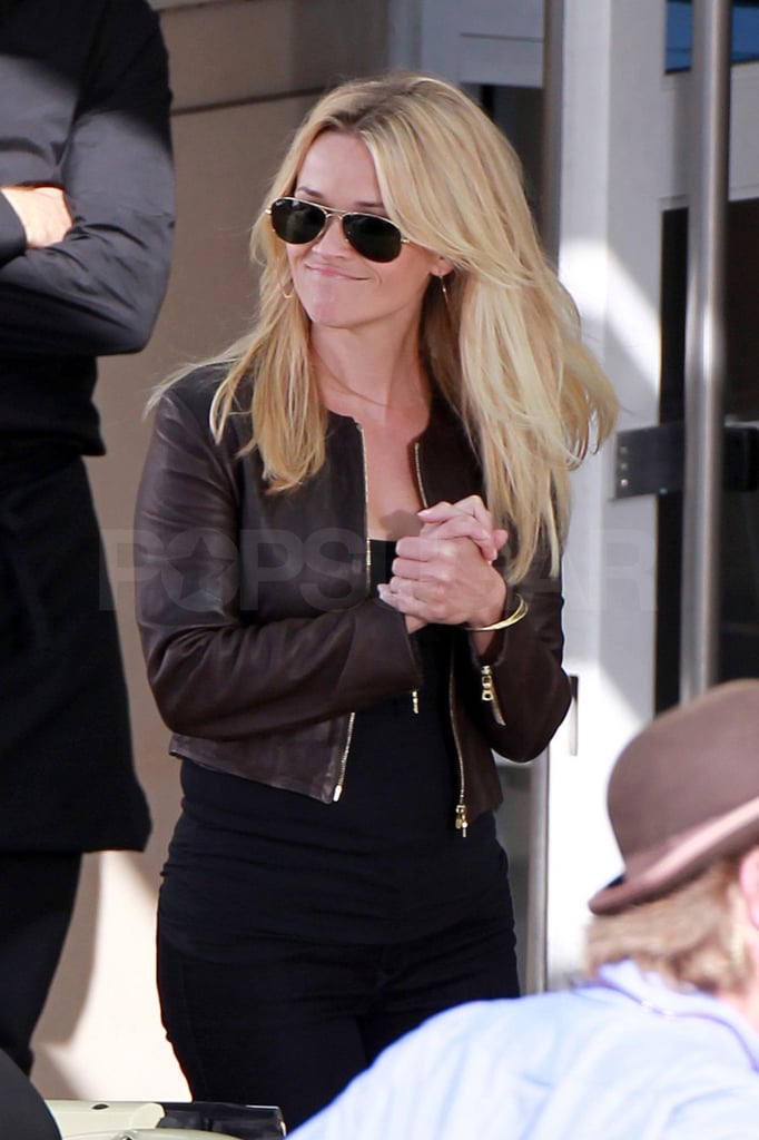Reese Witherspoon got to work on the set.