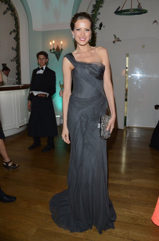Petra Nemcova glowed at Gucci's fete in a one-shouldered gown.