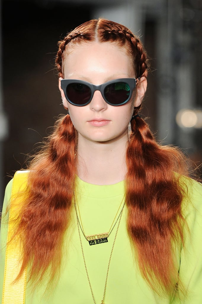"""""""When braiding, try and work very clean. Section the hair off, and clip one side away so it doesn't interfere while you're braiding. Take your time.""""  — Hairstylist Esther Langham at Kenneth Cole"""