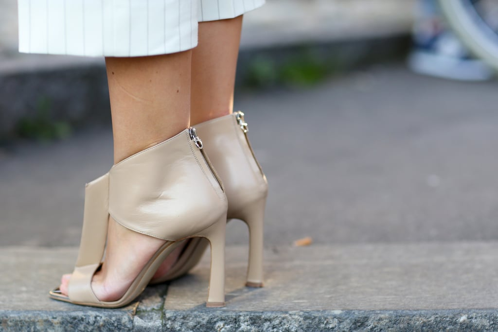 These nude heels aren't exactly understated.