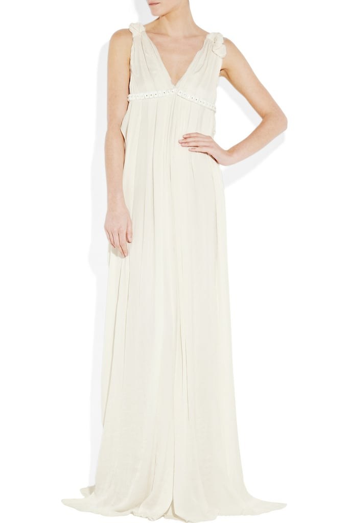 The most luxurious, romantic of cuts that's still easy and relaxed enough for an afternoon wedding in the sand.  Lanvin Pleated Chiffon Gown ($5,185)