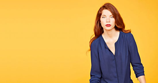 ModCloth Decrees All Podcast Hosts Must Wear This Flowy, Navy-Blue Blouse