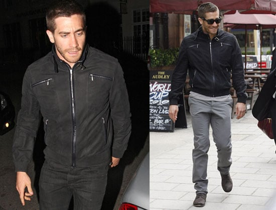 Pictures of Jake Gyllenhaal in a Suit in London