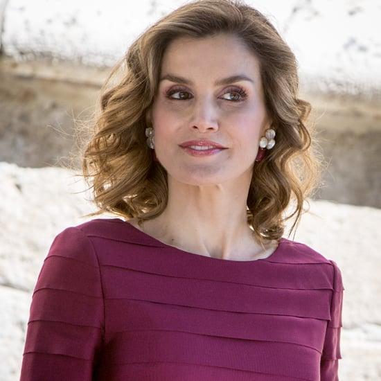 Queen Letizia Purple Felipe Varela Dress