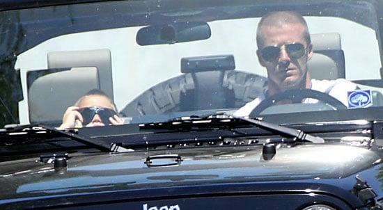 Photos of David Beckham with Cruz Beckham in LA