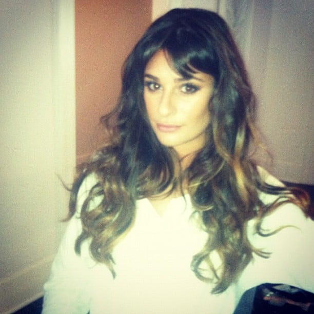 Lea Michelle snapped a photo while getting ready for a red-carpet event.  Source: Instagram user msleamichele