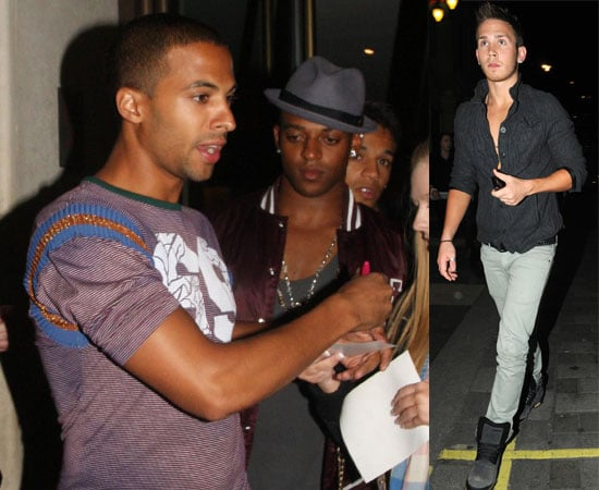 Pictures of JLS Out in London with Big Brother 11's JJ Bird!