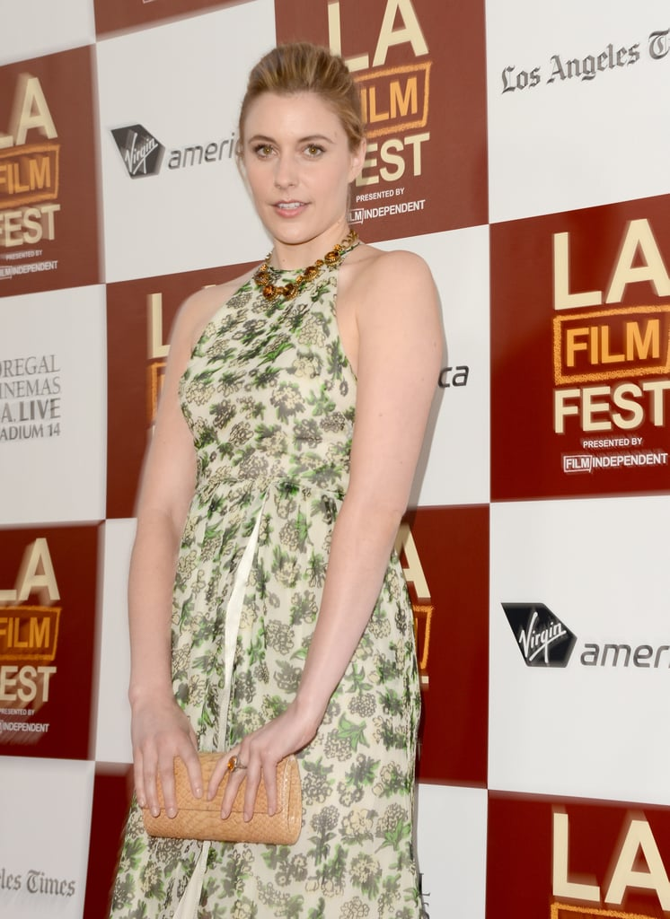 Greta Gerwig posed at the LA premiere of To Rome With Love.