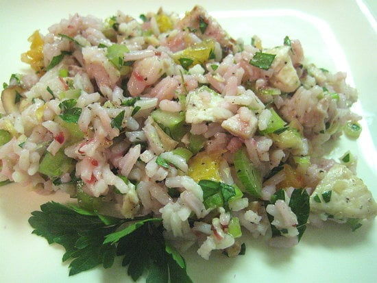 A chicken rice salad is a tasty lunch for your work week and a great way to use leftovers.