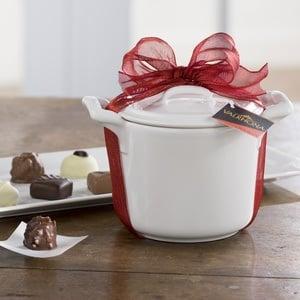 Mini Porcelain Stockpot With Valrhona Chocolates