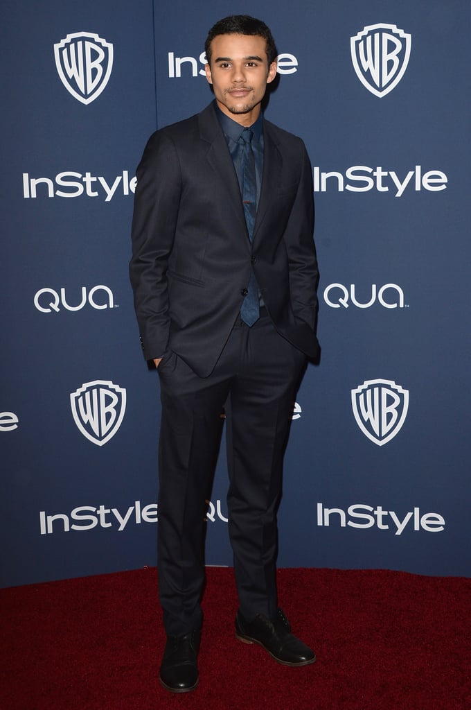 Glee's Jacob Artist suited up for the event.