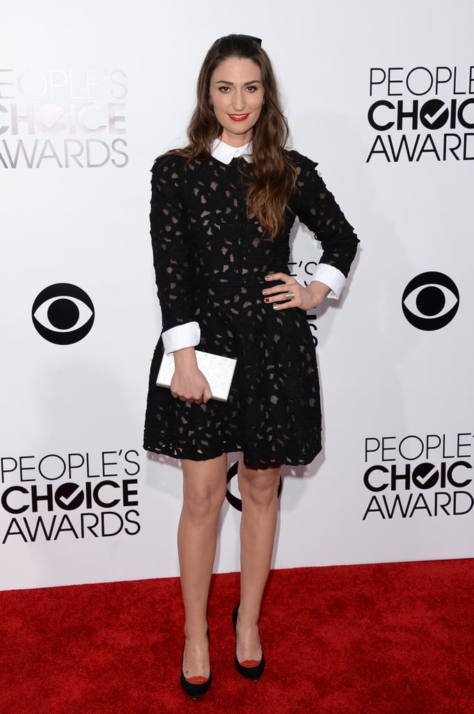 Sara Bareilles arrived for her night on stage.