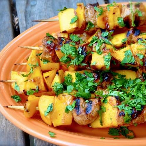 Grilled Pork and Mango Skewers