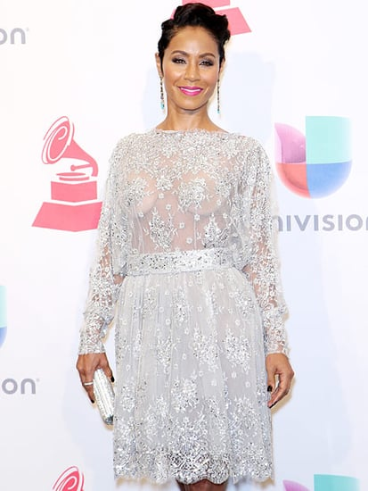 Jada Pinkett-Smith Stuns in Sheer Ensemble Cheering on Husband Will at the Latin Grammys