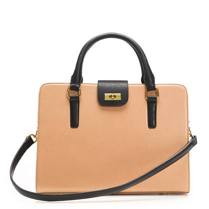 This two-tone attaché is big enough to fit a laptop, iPad, or Kindle, or an extra pair of shoes — perfect for toting from campus to post-class drinks. J.Crew Edie Attaché Bag ($288)