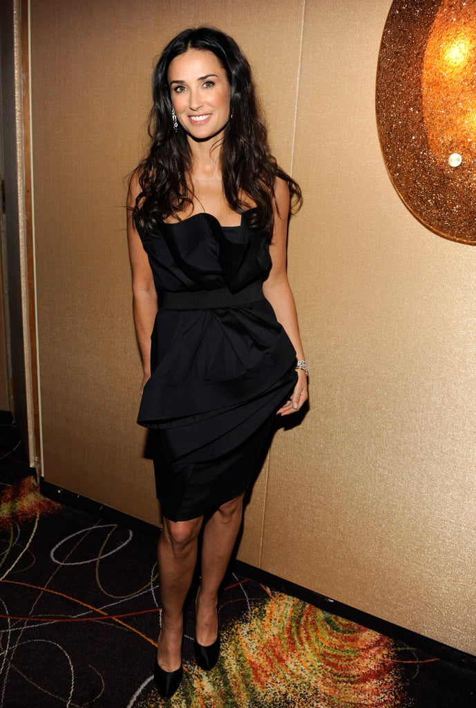 Sculptural black strapless for an appearance on MTV's live broadcast from The Youth Inaugural Ball in January '09.