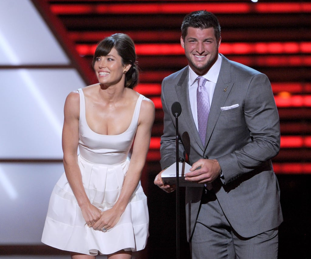 Jessica Biel Enjoys Jeremy Lin and Tim Tebow Sandwich at the ESPYs