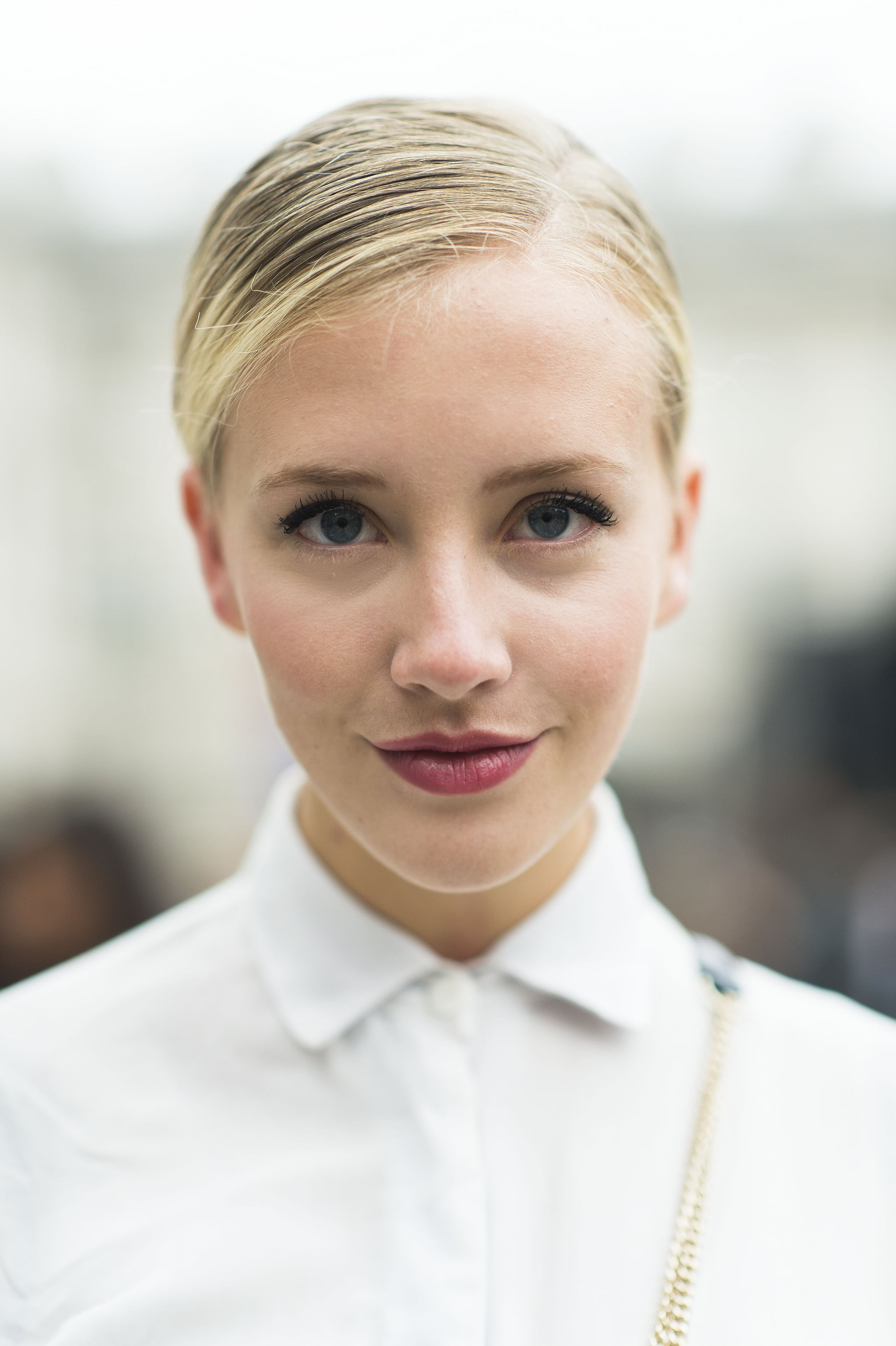 Couple a slicked-back updo with a rosy lipstick for a style that's effortlessly cool.  Source: Le 21ème   Adam Katz Sinding