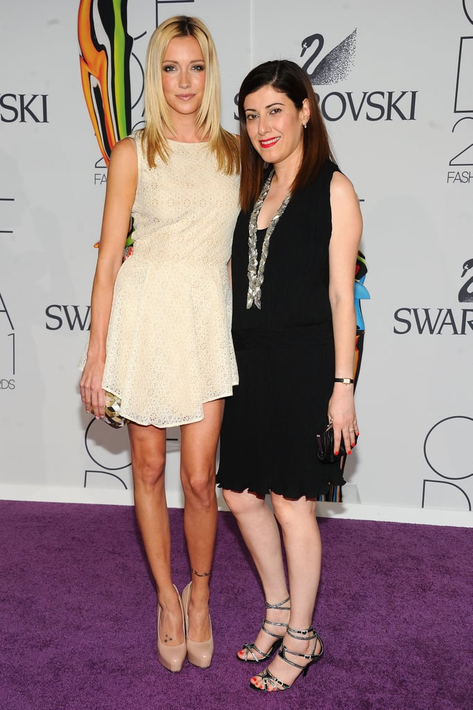 Katie Cassidy in Behnaz Sarafpour, with the designer