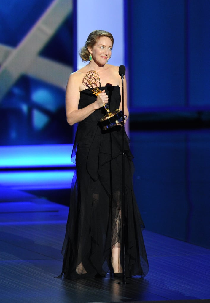 Sara Bromell accepted the award for best writing for a drama on behalf of her late husband, who wrote for Homeland.